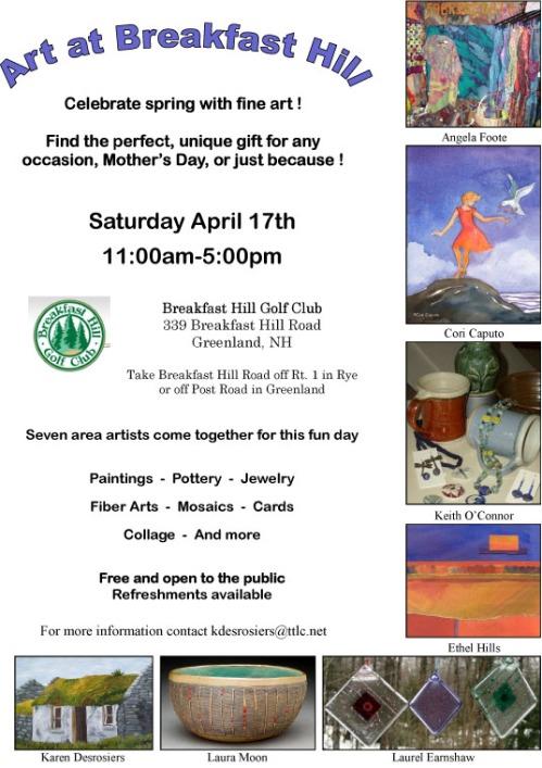 Art at Breakfast Hill - April 17th